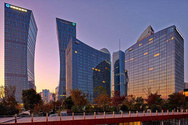 Riviera Twinstar Square in the Pudong District of Shanghai