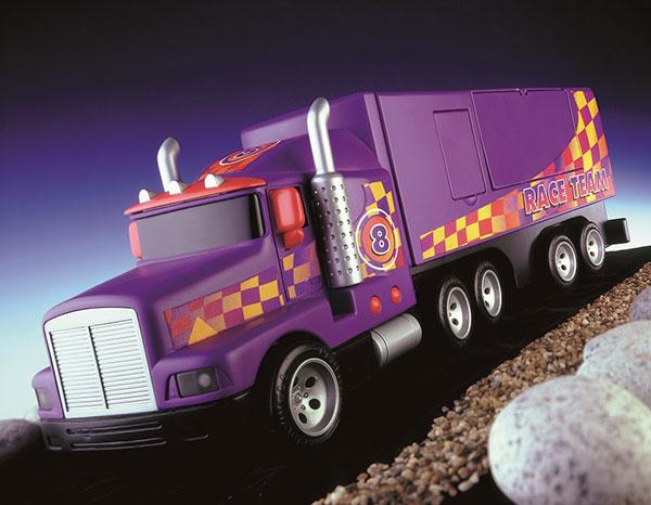 Portfolio shot of toy truck