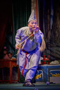 A Chinese opera performance during the Festival of the Hungry Ghost in Shau Kei Wan, Hong Kong.