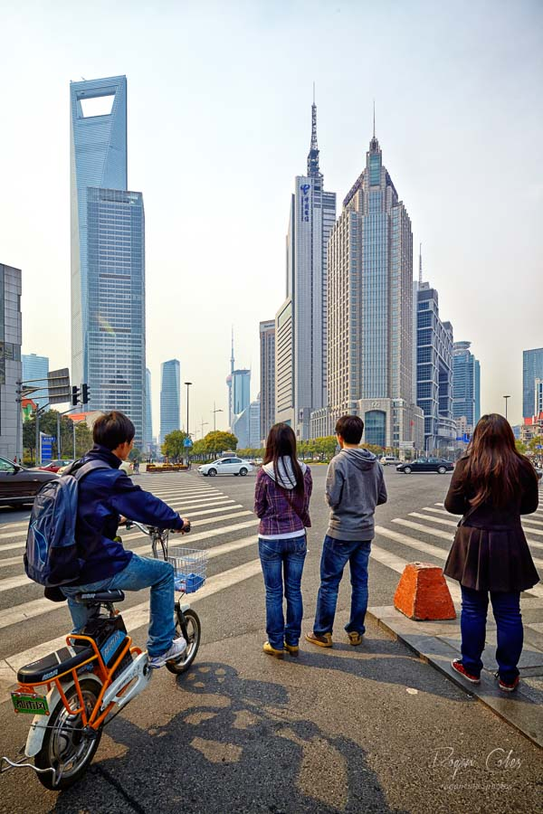 Downtown Shanghai - the Pudong District